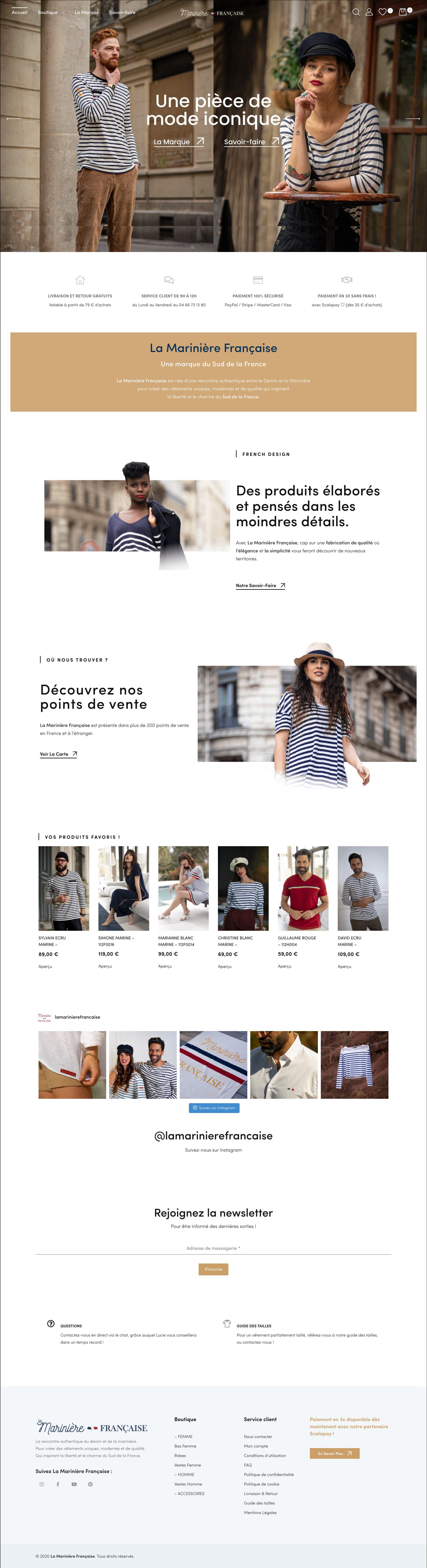 Site La Marinière Française